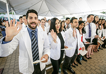 Pharmacy students at the White Coat ceremony.